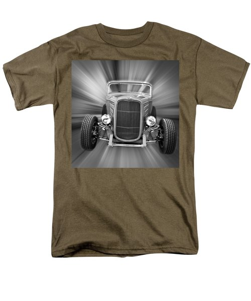 Black and White 32 Ford T-Shirt by Steve McKinzie
