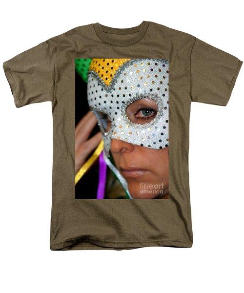 Blond Woman With Mask T-Shirt by Henrik Lehnerer