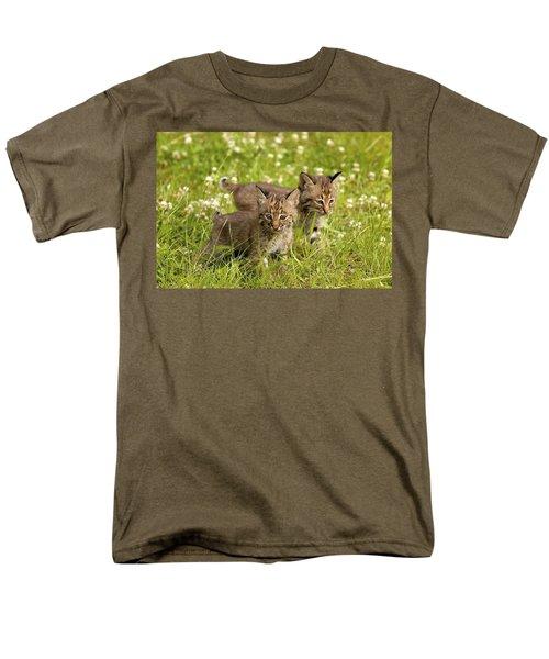 Bobcat Kittens T-Shirt by John Pitcher