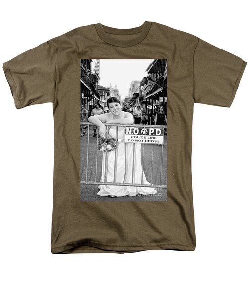 Bride on the Barricade on Bourbon St NOLA T-Shirt by Kathleen K Parker