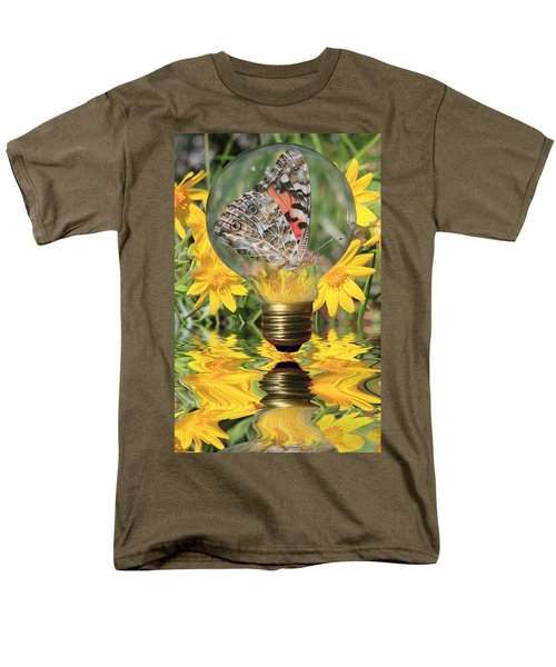 Butterfly In A Bulb II T-Shirt by Shane Bechler