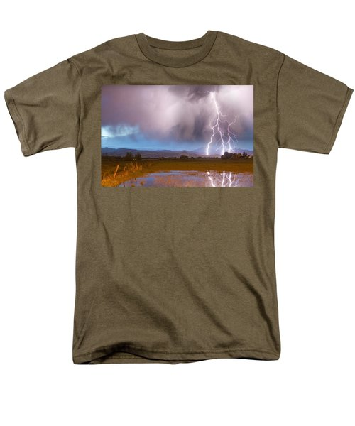 C2G Lightning Bolts Striking Longs Peak Foothills 6 T-Shirt by James BO  Insogna