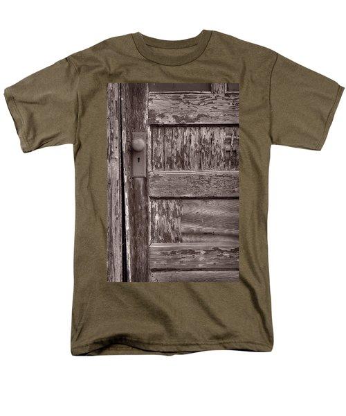 Cabin Door BW T-Shirt by Steve Gadomski