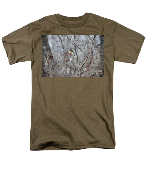 Cedar Wax Wing 3 Men's T-Shirt  (Regular Fit) by David Arment