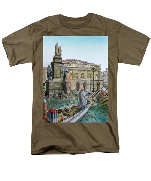 CITY OF MILAN in ITALY UNDER WATER T-Shirt by Fabrizio Cassetta