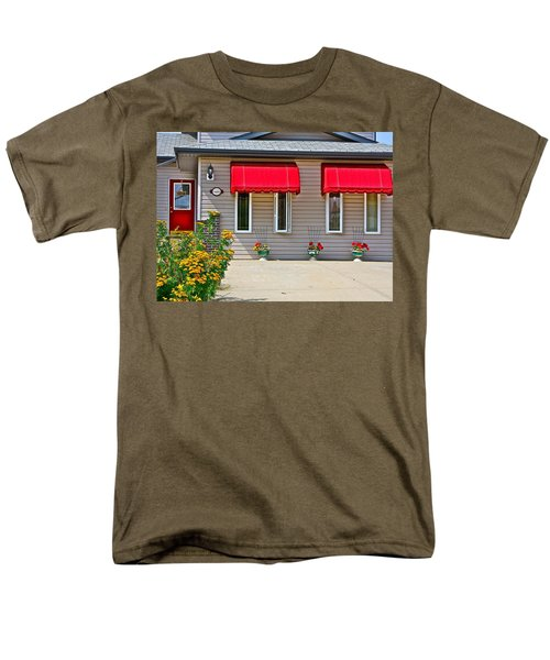 House with red shades. T-Shirt by Johanna Bruwer
