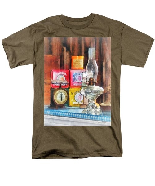 Hurricane Lamp and Scale T-Shirt by Susan Savad