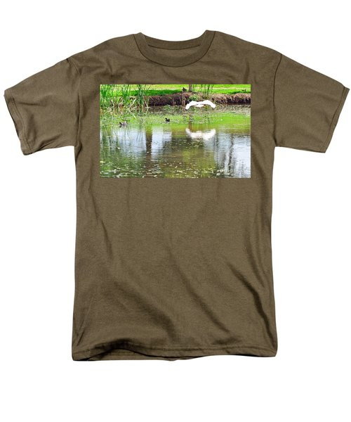 Ibis Over His Reflection Men's T-Shirt  (Regular Fit) by Kaye Menner
