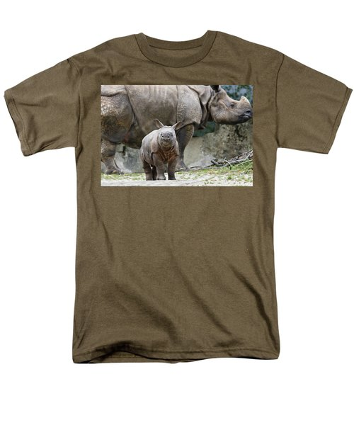 Indian Rhinoceros Rhinoceros Unicornis T-Shirt by Konrad Wothe