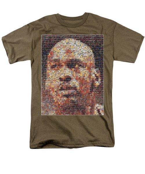 Michael Jordan Card Mosaic 3 T-Shirt by Paul Van Scott