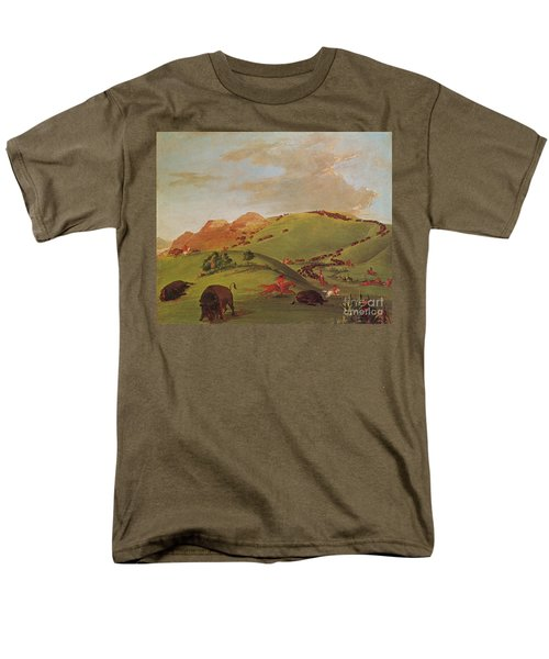 Native American Indians, Buffalo Chase T-Shirt by Photo Researchers