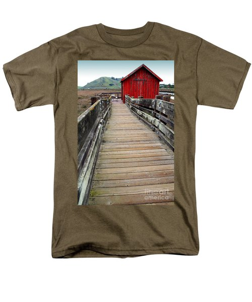 Old Red Shack At The End of The Walkway T-Shirt by Wingsdomain Art and Photography