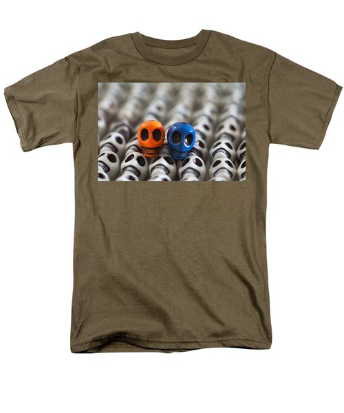 Orange And Blue T-Shirt by Mike Herdering