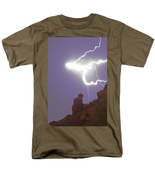 Praying Monk Lightning Halo Monsoon Thunderstorm Photography T-Shirt by James BO  Insogna