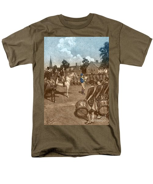 Reading The Declaration Of Independence T-Shirt by Photo Researchers