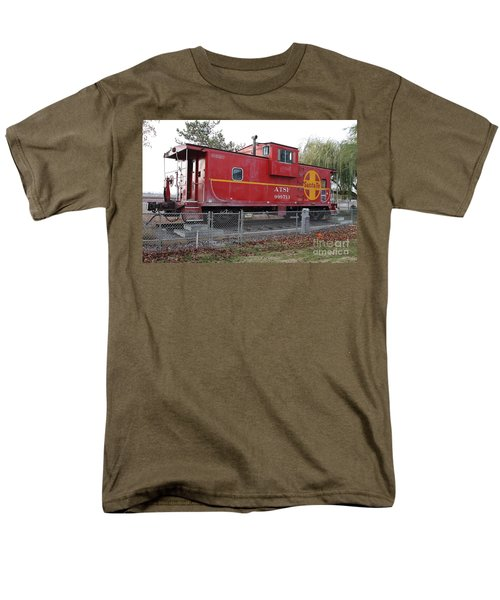 Red Sante Fe Caboose Train . 7D10329 T-Shirt by Wingsdomain Art and Photography