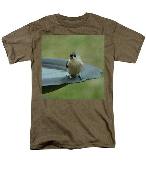 Tufted Titmouse Men's T-Shirt  (Regular Fit) by Sandy Keeton