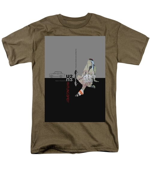 U2 Poster Men's T-Shirt  (Regular Fit) by Naxart Studio