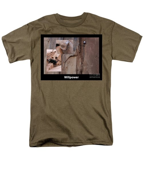 Willpower With Caption T-Shirt by Bob Christopher