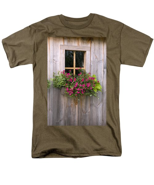 Wooden Shed With A Flower Box Under The T-Shirt by Michael Interisano