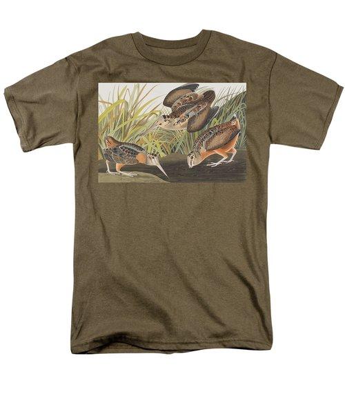 American Woodcock Men's T-Shirt  (Regular Fit) by John James Audubon