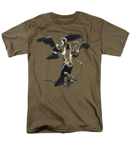 Anhinga Feeding Time Transparency Men's T-Shirt  (Regular Fit) by Richard Goldman