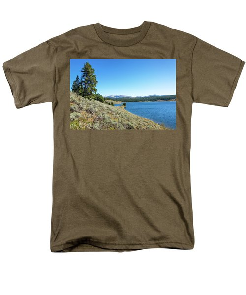 Meadowlark Lake View Men's T-Shirt  (Regular Fit) by Jess Kraft