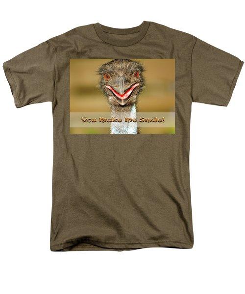 You Make Me Smile Men's T-Shirt  (Regular Fit) by Carolyn Marshall
