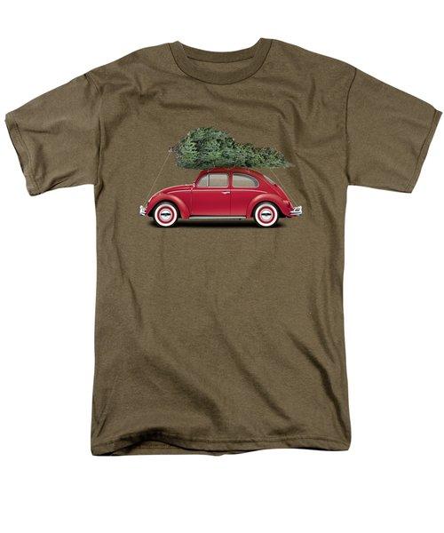1962 Volkswagen Deluxe Sedan - Ruby Red W/ Christmas Tree Men's T-Shirt  (Regular Fit) by Ed Jackson