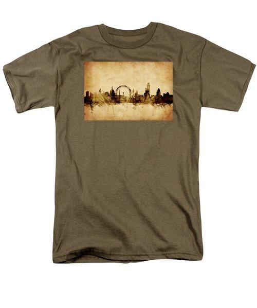 London England Skyline Men's T-Shirt  (Regular Fit) by Michael Tompsett
