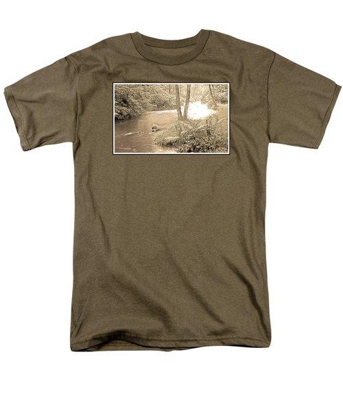 Men's T-Shirt  (Regular Fit) featuring the photograph Mud Run Pocono Mountain Stream Pennsylvania by A Gurmankin