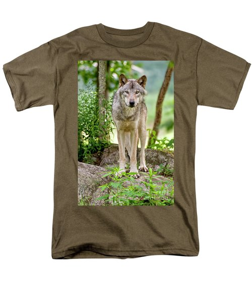 Timber Wolf T-Shirt by Michael Cummings
