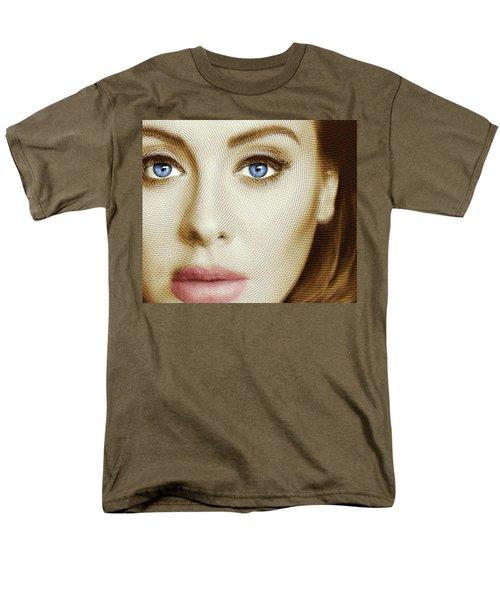 Adele Painting Circle Pattern 1 Men's T-Shirt  (Regular Fit) by Tony Rubino