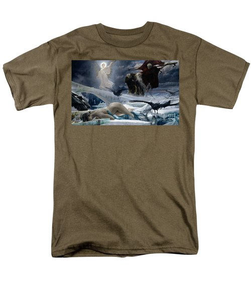 Ahasuerus At The End Of The World Men's T-Shirt  (Regular Fit) by Adolph Hiremy Hirschl