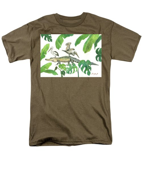 Alligator And Pelicans Men's T-Shirt  (Regular Fit) by Juan Bosco