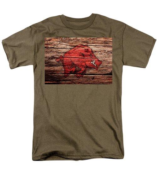 Arkansas Razorbacks 1a Men's T-Shirt  (Regular Fit) by Brian Reaves