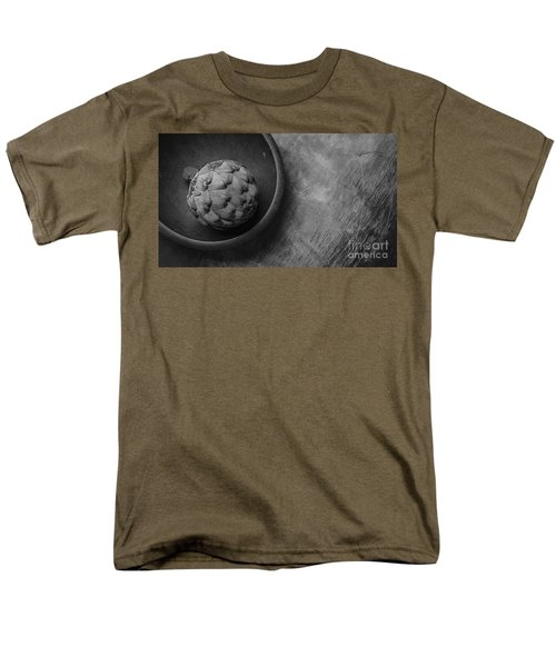 Artichoke Black And White Still Life Three Men's T-Shirt  (Regular Fit) by Edward Fielding