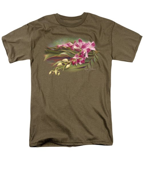 Dendrobium Orchids Men's T-Shirt  (Regular Fit) by Lucie Bilodeau