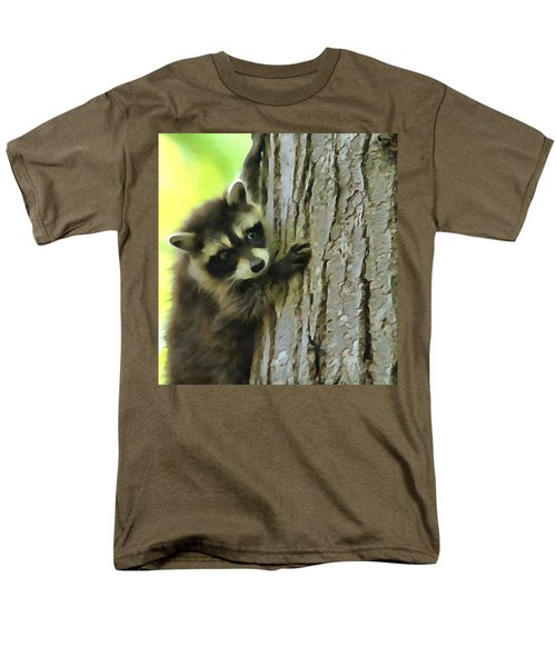 Baby Raccoon In A Tree Men's T-Shirt  (Regular Fit) by Dan Sproul