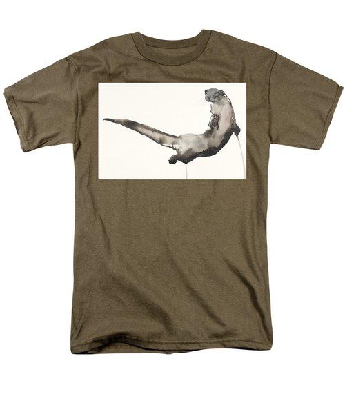 Back Awash   Otter Men's T-Shirt  (Regular Fit) by Mark Adlington