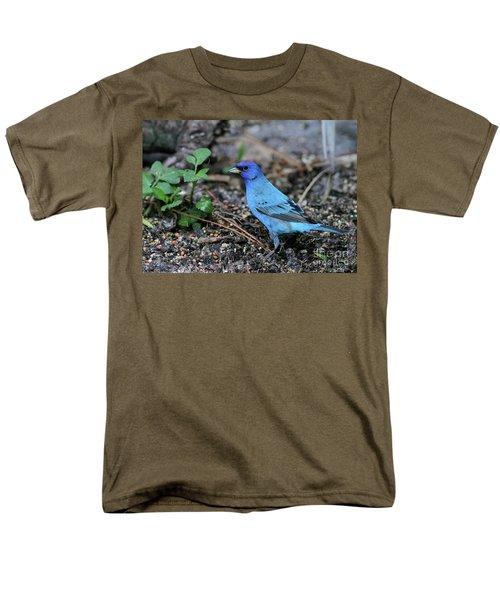 Beautiful Indigo Bunting Men's T-Shirt  (Regular Fit) by Sabrina L Ryan