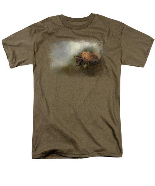 Bison After The Mud Bath Men's T-Shirt  (Regular Fit) by Jai Johnson