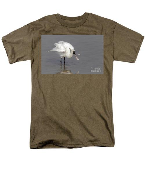 Black-faced Spoonbill Men's T-Shirt  (Regular Fit) by Martin Hale/FLPA