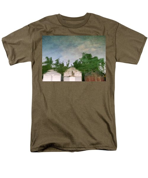 Boathouses with Sky and Trees T-Shirt by Michelle Calkins