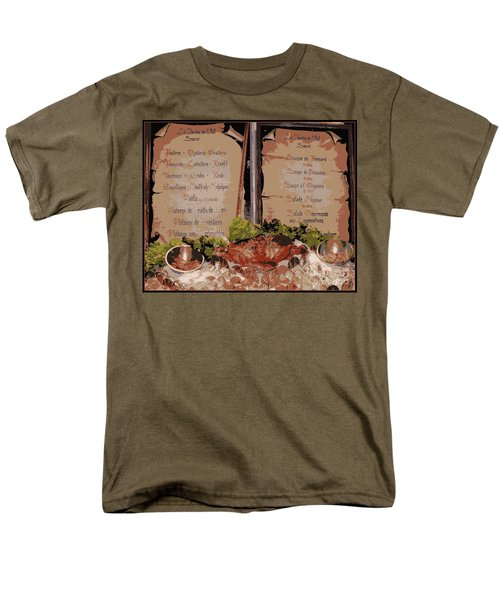 Brussels Menu - Digital T-Shirt by Carol Groenen