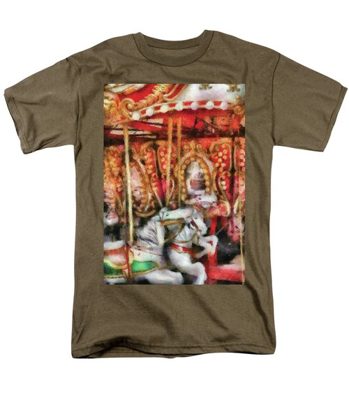 Carnival - The Carousel - Painted T-Shirt by Mike Savad