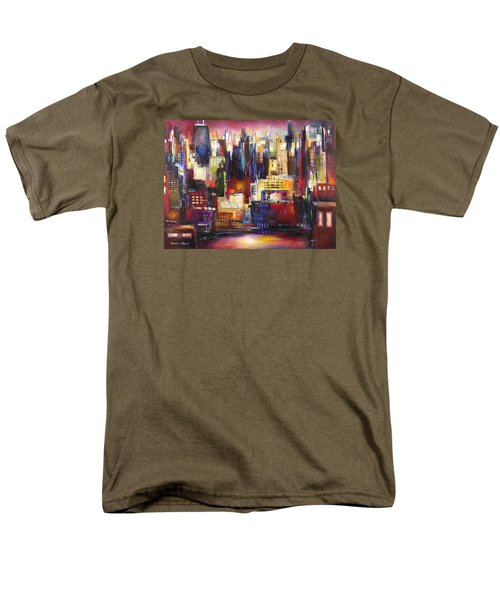 Chicago City View Men's T-Shirt  (Regular Fit) by Kathleen Patrick