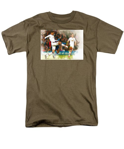 Chris Smalling  In Action  Men's T-Shirt  (Regular Fit) by Don Kuing