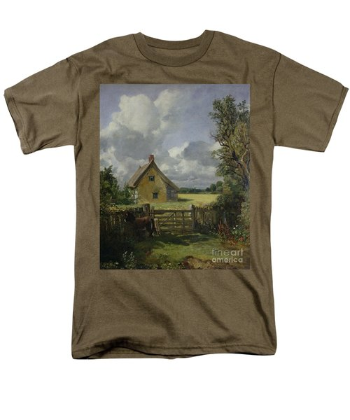 Cottage In A Cornfield Men's T-Shirt  (Regular Fit) by John Constable