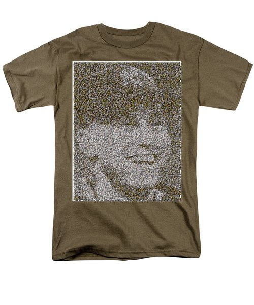 Derek Jeter Baseballs Mosaic T-Shirt by Paul Van Scott